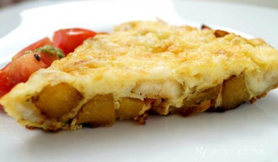 yam and plantain frittata