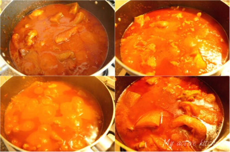 image collage of nigerian stew in a pot