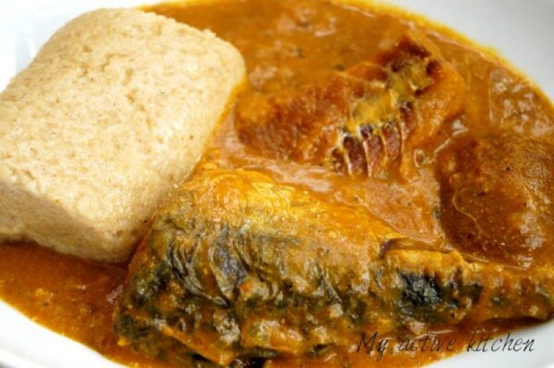 nigerian oatmeal swallow and soup.