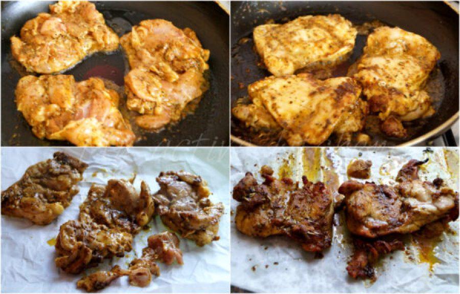 chicken shawarma cooking process.