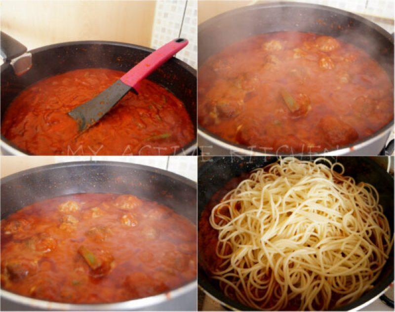 simmering sauce.