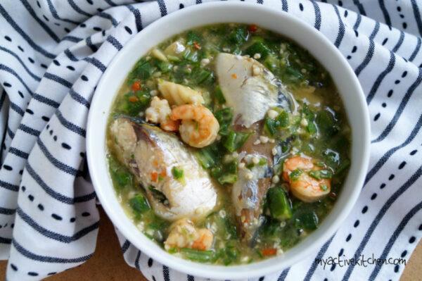 oil less okra soup recipe