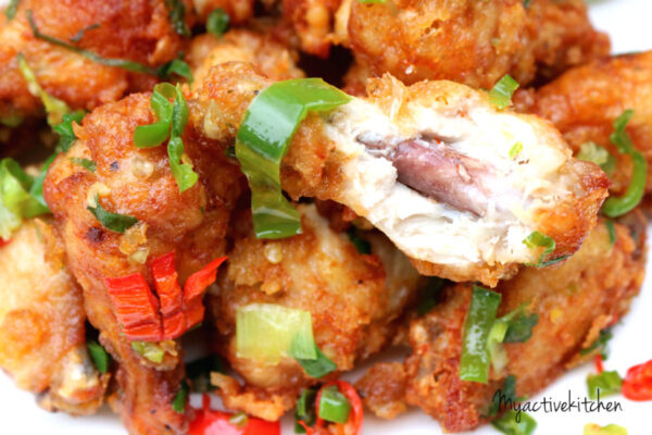 salt and pepper chicken wings my active kitchen. Black Bedroom Furniture Sets. Home Design Ideas