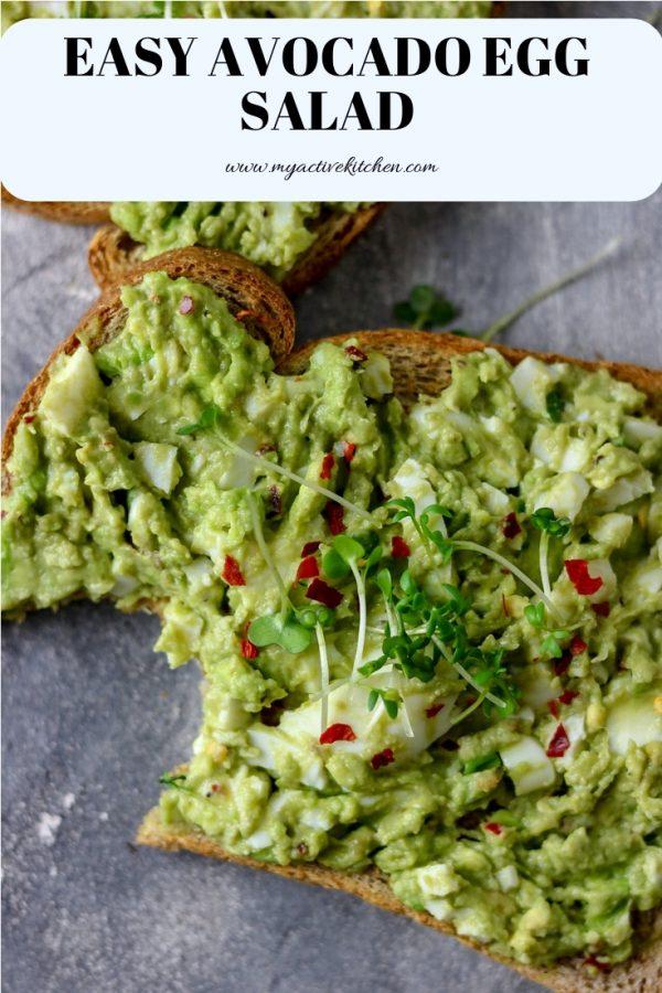 avocado egg salad pinterest pin