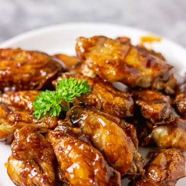 Asian sticky chicken wings.