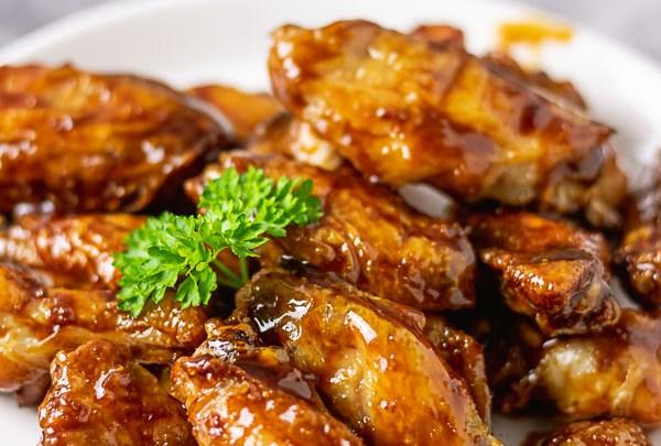Asian sticky chicken wings.