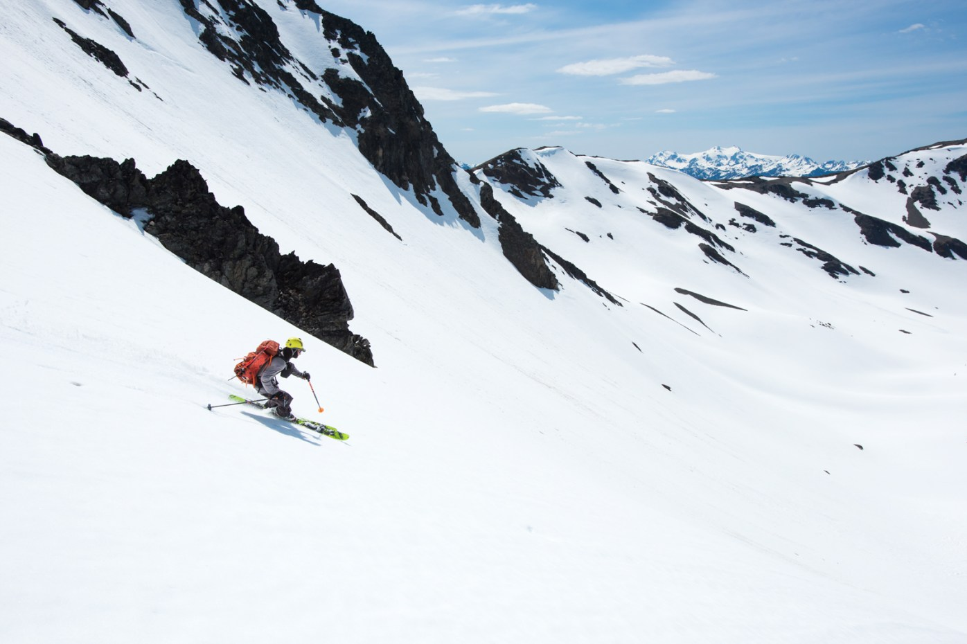 Skiing on the Cameron Glacier