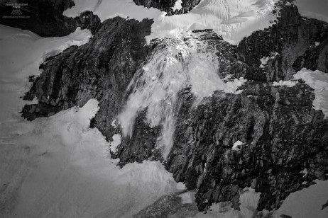 Avalanche above Ouzel Lake