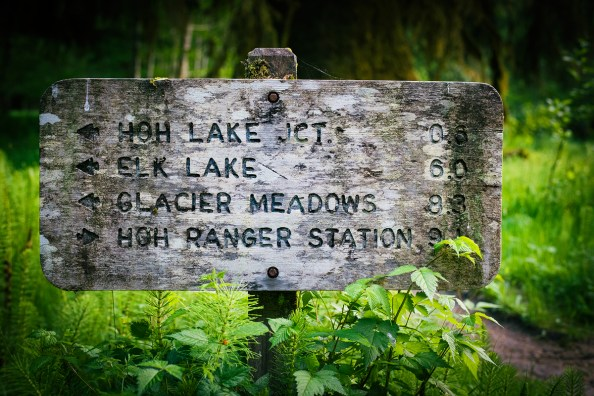 Trail Sign at 9 mile