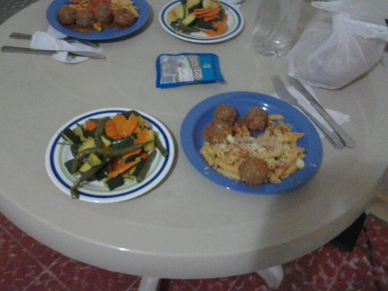 Homemade meal at my hostel. YUM