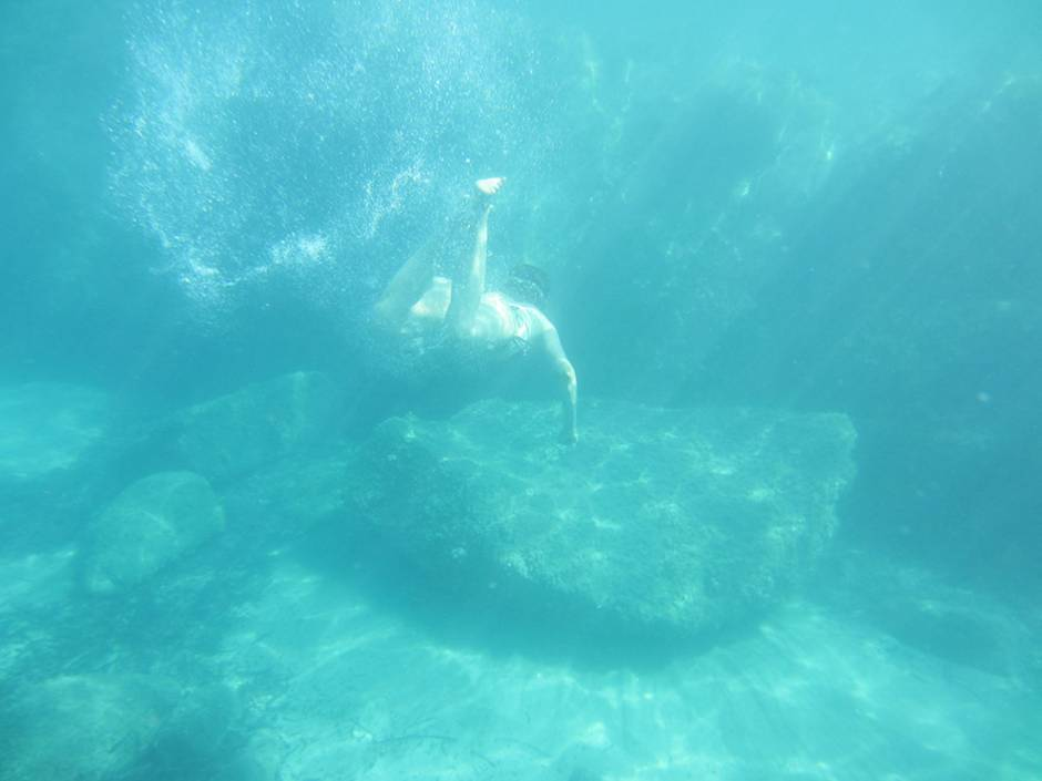 Snorkeling around Feraxi, one of Sardinia beaches