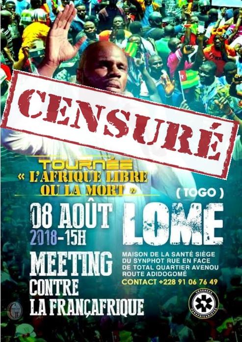 """Kemi Seba interdit de séjour au Togo, un coup dans l'aile de La tournée """"L'AFRIQUE LIBRE OU LA MORT"""""""