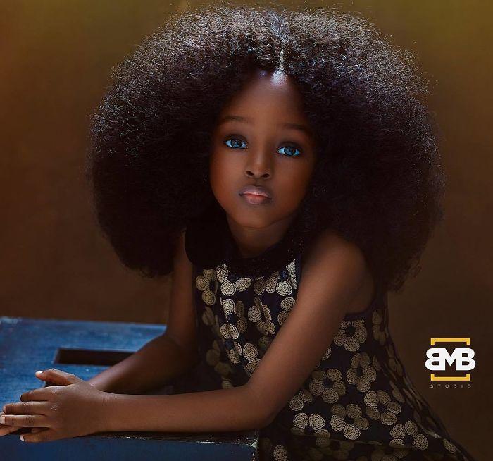 La petite nigériane Jare élue la « plus belle fille du monde »