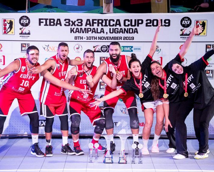 CAN Basket 3×3: Doublé historique pour l'Égypte championne chez les hommes et les femmes