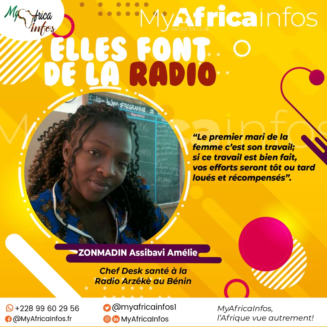 Bénin/Elles Font de la Radio: à la découverte de ZONMADIN Assibavi Amélie