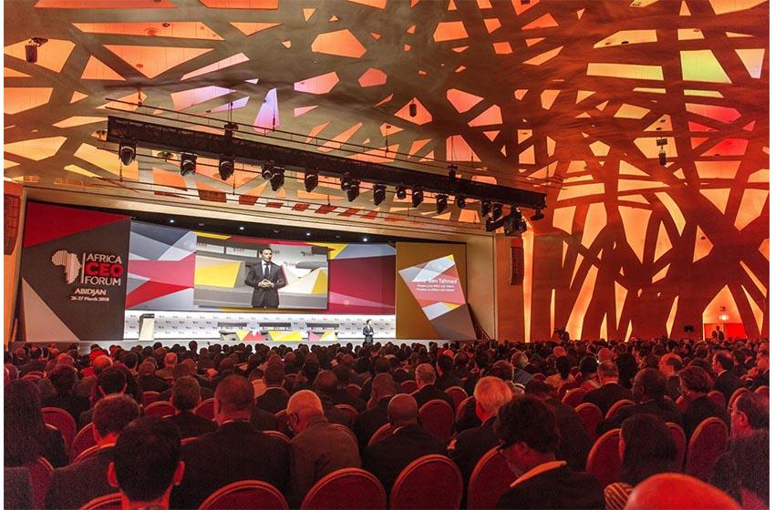Africa CEO Forum 2020 avec cinq chefs d'États africains.
