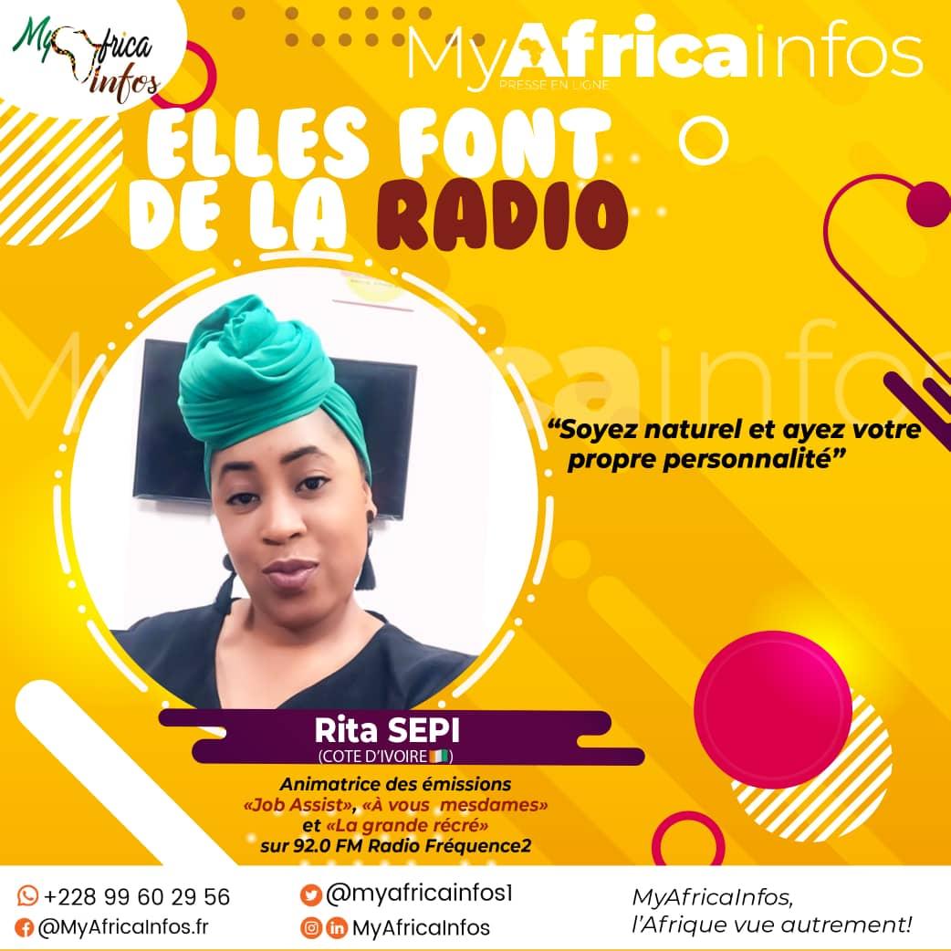 Elles Font de la Radio/Côte d'Ivoire: Rita manille aisément animation radio/télé et événementiel