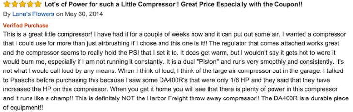air compressor review