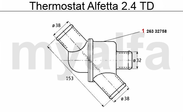 Alfa Romeo ALFA ROMEO ALFETTA COOLING SYSTEM THERMOSTAT 2.4 TD