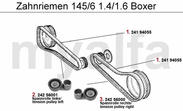 Alfa Romeo Alfa Romeo 145/146 Ventilsteuerung 1.4/1.6