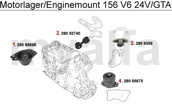 Alfa Romeo ALFA ROMEO 156 ENGINEMOUNT 2.5/3.2 V6 24V/GTA