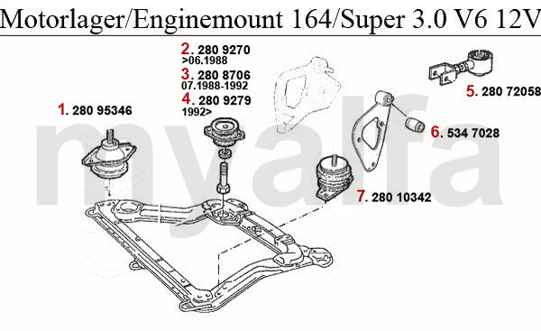 Alfa Romeo ALFA ROMEO 164/SUPER ENGINE MOUNT 3.0 V6