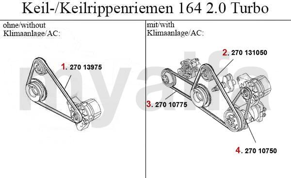 Alfa Romeo ALFA 164/SUPER V-BELTS 3.0 V6 >1992 ALFA 164