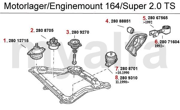 Alfa Romeo ALFA ROMEO 164/SUPER ENGINE MOUNT 2.0 TS