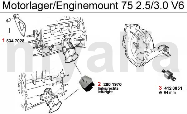 Alfa Romeo ALFA ROMEO 75 ENGINE MOUNT 2.5/3.0 V6