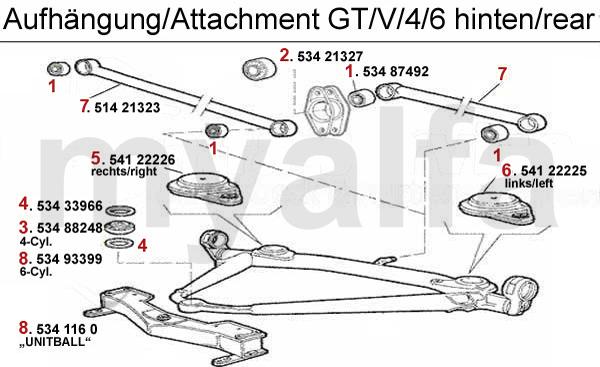 Alfa Romeo ALFA ROMEO ALFETTA GT/GTV 4/6 ATTACHMENT REAR