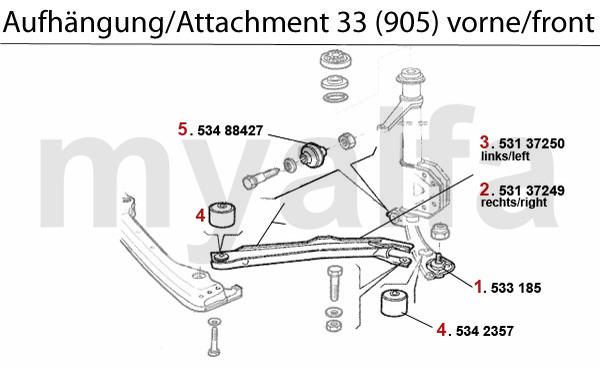 Alfa Romeo Alfa Romeo 33 (905/907) Aufhängung (905) vorne