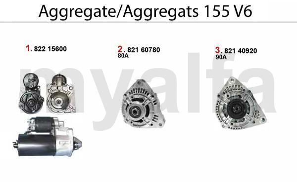 Alfa Romeo ALFA 155 ENGINE ELECTRIC STARTER/ALTERNATOR 2.5