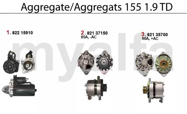 Alfa Romeo ALFA 155 ENGINE ELECTRIC STARTER/ALTERNATOR 1.9