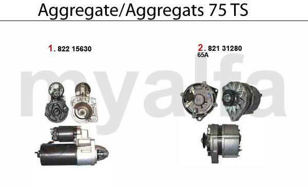 Alfa Romeo Alfa Romeo 75 Motorelektrik Aggregate TS
