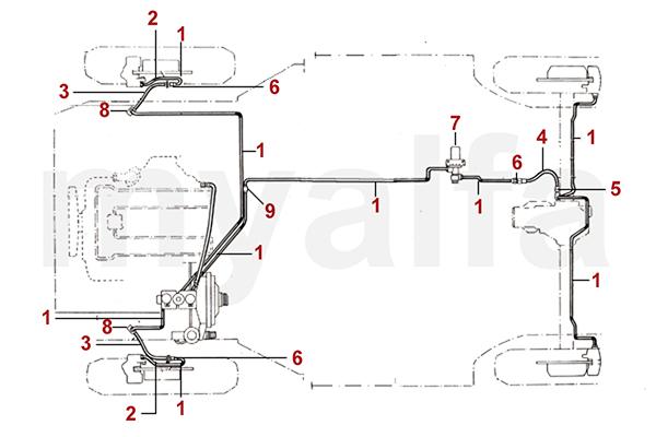 Alfa Romeo ALFA ROMEO SPIDER (105/115) BRAKE HYDRAULIC