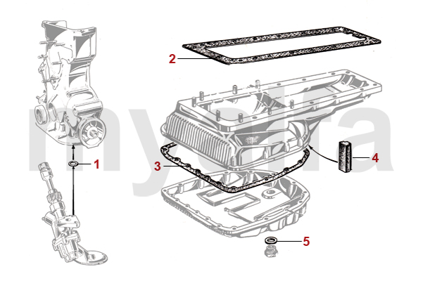 Alfa Romeo ALFA ROMEO SPIDER (105/115) ENGINE GASKETS OILPAN