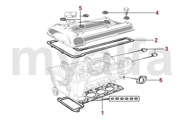 Alfa Romeo ALFA ROMEO GIULIA GT BERTONE ENGINE GASKETS