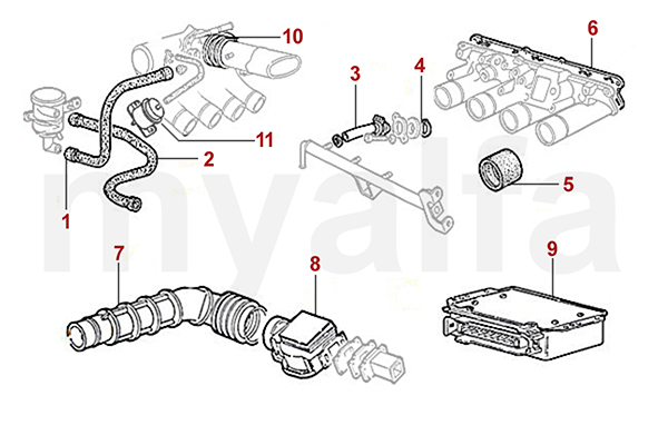 Alfa Romeo ALFA ROMEO SPIDER (105/115) INJECTION SYSTEM