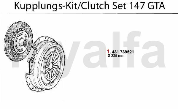 Alfa Romeo ALFA 147 CLUTCH CLUTCH SET 3.2 V6 24V/GTA ALFA