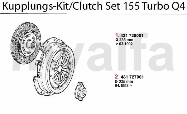 Alfa Romeo ALFA 155 CLUTCH CLUTCH SET Turbo Q4 16V ALFA
