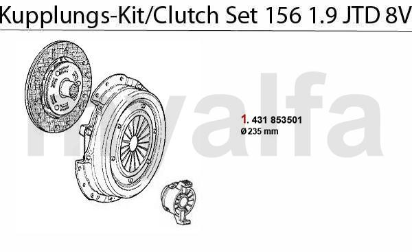 Alfa Romeo ALFA 156 CLUTCH CLUTCH SET 1.9 JTD 8V ALFA 156