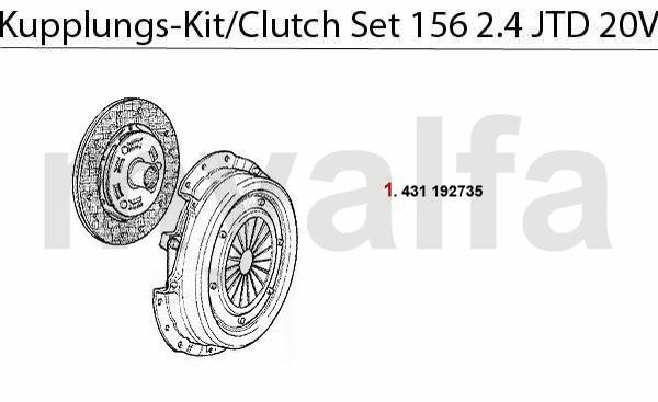 Alfa Romeo ALFA 156 CLUTCH CLUTCH SET 2.4 JTD 20V ALFA 156
