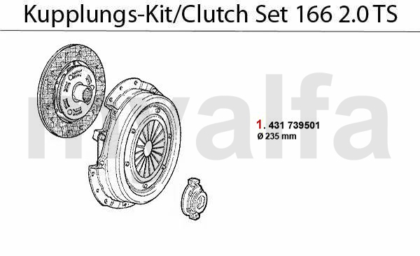Alfa Romeo ALFA 166 CLUTCH CLUTCH SET 2.0 TS ALFA 166
