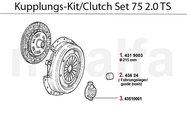 Alfa Romeo ALFA 75 CLUTCH 2.0 TS ALFA 75 CLUTCH 2.0 TS