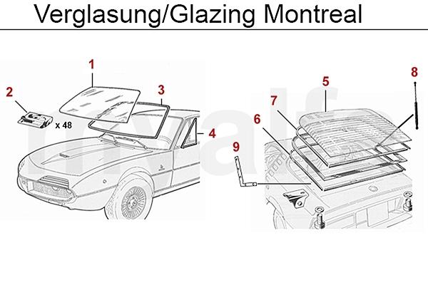 Alfa Romeo ALFA ROMEO MONTREAL GLAZING