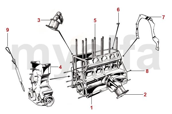 Alfa Romeo ALFA ROMEO SPIDER (105/115) ENGINE BLOCK ENGINE