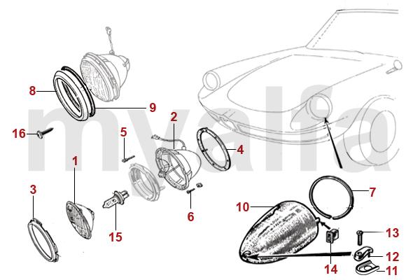 Alfa Romeo ALFA ROMEO SPIDER (105/115) LIGHTS HEAD LAMPS