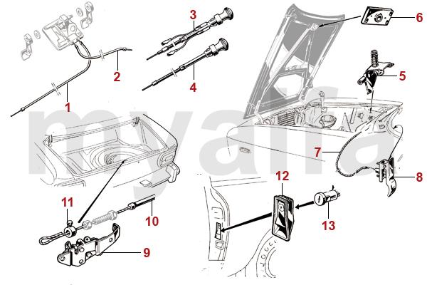 Alfa Romeo ALFA ROMEO GIULIA GT BERTONE OPENERS/CABLES
