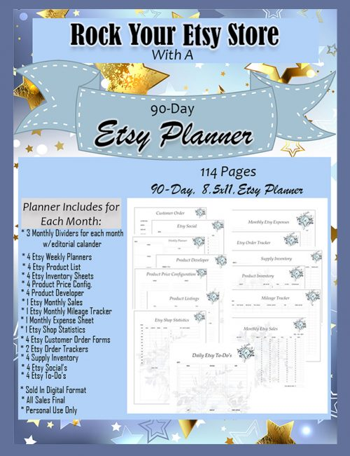 Rock Your Etsy Store With A 90-Day Etsy Planner