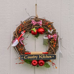"14"" Apple Country Kitchen Wreath"